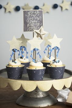 Did you know wintertime is the best time of year to go stargazing? With just a few pretty papers, you can throw a lovely astronomy inspired party to ward off winter blues!