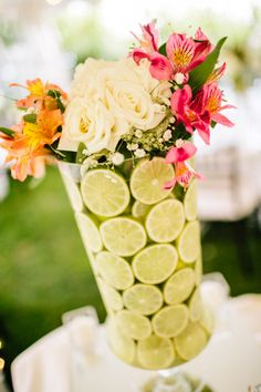 More elaborate center pieces with limes!
