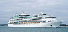 Royal Caribbean Cruise Line Cruise Ship Vision Of The Seas Track At Sea Li