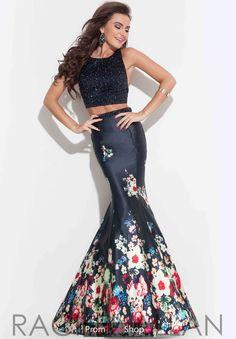 Rachel Allan Satin Fitted Dress 7096