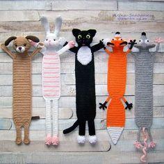 Kawaii Crochet, Crochet Mouse, Crochet Books, Crochet Bunny, Crochet Gifts, Diy Crochet, Crochet Bookmark Pattern, Crochet Bookmarks, Crochet Stitches Patterns