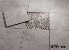 Particolare di #posa su ghiaia T_20 by Ceramiche Supergres #gres #ceramiche #supregrescollection Outdoor Pavers, Tile Floor, Design, Paving Stones, Tile Flooring