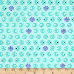 Timeless Treasures Sunkissed Swimmers Fish Aqua from @fabricdotcom  Designed for Timeless Treasures, this cotton print fabric is perfect for quilting, apparel and home decor accents. Colors include turquoiuse, white and indigo purple.