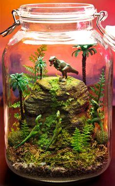 Dinosaur terrarium! Must show our 2nd grade teachers!