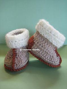 Aussie Snuggly Ugg Crochet booties