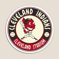 Cleveland Baseball, Cleveland Indians Baseball, Clevland Indians, Baseball Canvas, Baseball Posters, Retro Logos, Mlb, Canvas Prints