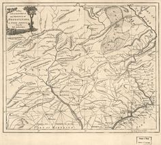 a new and accurate map of the province of pennsylvania in north america from