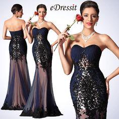 eDressit 2014 New Navy Blue Sweetheart Sequin Evening Dress Prom Gown