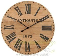 Piękny, drewniany zegar, którego średnica to aż 110cm