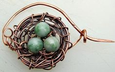 How to Make a Wire Bird's Nest into a Brooch Tutorial - The Beading Gem's Journal