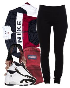"""11/11/15"" by clickk-mee ❤ liked on Polyvore featuring moda, NIKE, JanSport, Helmut Lang e Retrò"