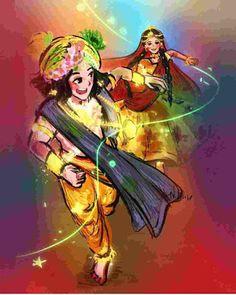 Radha Krishna Sketch, Radha Krishna Songs, Krishna Drawing, Radha Krishna Images, Lord Krishna Images, Krishna Art, Lord Krishna Sketch, Holi Drawing, Bal Krishna