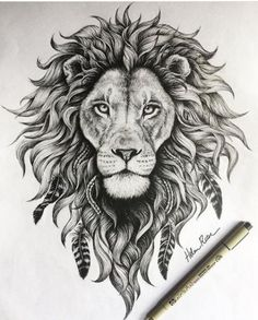 detail on this lion illustration is insane! - The detail on this lion illustration is insane! -The detail on this lion illustration is insane! - The detail on this lion illustration is insane! Leo Lion Tattoos, Animal Tattoos, Lion Thigh Tattoo, Mandala Lion Tattoo, Lion Back Tattoo, Tattoos Of Lions, Horse Tattoos, Tattoo Drawings, Body Art Tattoos