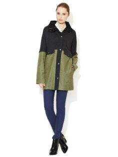 Wool Hooded Coat by Sea at Gilt