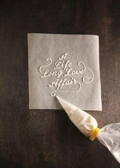 beautiful handmade typography