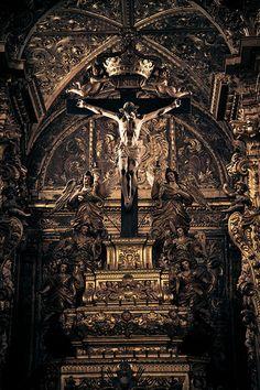 Interior of a Church in Evora #Portugal