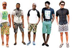 Ankara shorts african men fashion, african fashion dresses, african w African Print Fashion, African Fashion Dresses, African Prints, African Wear, African Dress, Neon Shirts, Mens Fashion, Fashion Outfits, Street Fashion
