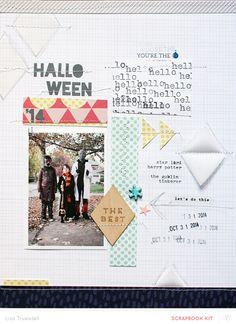 #Papercraft #scrapbook #layout. halloween by gluestickgirl