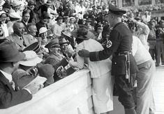 Hitler Reacts to Kiss from Excited American Woman at the Berlin Olympics, August 15, 1936
