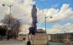 Il y a quelques jours, dans Paris, statue de Jefferson.
