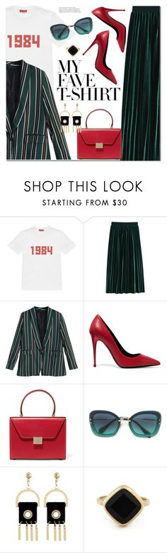 """Dress Up a T-Shirt"" by ansev ❤ liked on Polyvore featuring Gosha Rubchinskiy, Tom Ford, Victoria Beckham, Miu Miu, Sole Society and MyFaveTshirt"