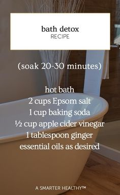 Detoxing baths are not only a great way of relaxing, but also improving your health. | bath detox recipe