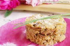 Plato delicioso de quinoa muy meloso y con consistencia similar al risotto que se hace con queso animal.