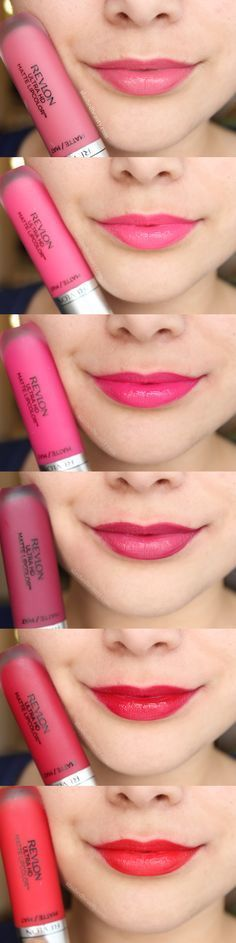 Swatches of the Revlon Ultra HD Matte Lipcolors -- Read a full review on SlashedBeauty.com