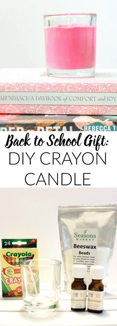 Back to School Teacher Gift: DIY Crayon Candle this is such a cute idea and so fun to make!