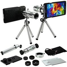 [2014 Wishlist - ($32.99)] MobilePioneer 4 in 1 Camera Lens Kit includes 12x Telescope Telephoto Manual Focus Camera Lens with Tripod / 3 Quick-Connect Lens Solution Fisheye Lens / Macro Lens / Wide-angle Lens / 1 Universal Holder / 1 Mini Tripod / 1 Protection Case / 1 Microfiber Digital Cleaner for Samsung Galaxy S5 i9600 Pioneer http://www.amazon.com/dp/B00JWKYTME/ref=cm_sw_r_pi_dp_bR.tub0131W61