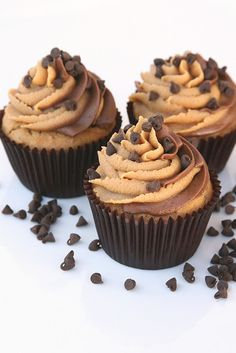 peanut butter and chocolate cupcakes.  http://www.flickr.com/groups/sweet_treats/discuss/72157616064540321/