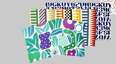 A series of Alexander Girard Fabrics illustrated by Christina Borstlap/Part of a Bigger Plan.
