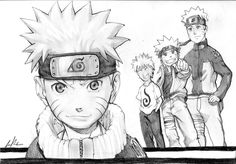Naruto' portrait!   It takes 4 hours and I've used 2B 4B and 6B! NOT TRACED!