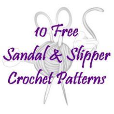 10 Free Sandal & Slipper Crochet Patterns