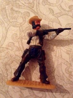 Vintage Rare 1970s Timpo Toys Last Series Footed Cowboy With Chaps Firing Rifle - Series 4 Timpo Swoppets on Etsy, £66.00