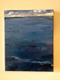 """The Deep Blue"" acrylic, by Carla Mcgillivray"