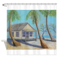 OLD FLORIDA VACATION Shower Curtain
