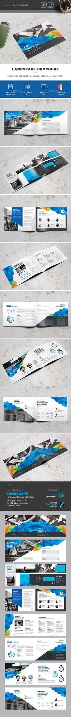 Landscape Brochure Template PSD