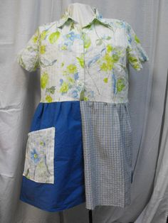 Small to Medium Upcycled funky cotton tunic by RagTagsOriginals, $61.99