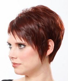Razor cut and possibly asymmetrical! Love that the lines are clean, even though it is fringed!  The slight lift to the back give this style a great profile.