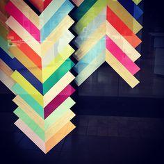 rainbow chevron via @happymundane on Instagram