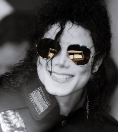MJ in shades. I miss his smile.