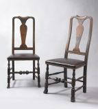 - Jeffrey Tillou Antiques - Paid of Queen Anne Side Chairs