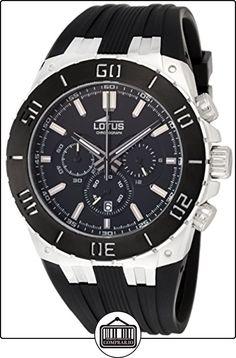 Lotus 15801/2 - Reloj cronógrafo de cuarzo para hombre con correa de caucho, color negro de  ✿ Relojes para hombre - (Gama media/alta) ✿