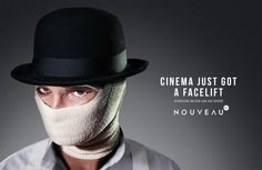 Cinema Nouveau: A Clockwork Orange Creative Advertising, Advertising Campaign, Ads, Indiana Jones, Ad Of The World, Napoleon Dynamite, Life Aquatic, Almost Perfect, Creative Director