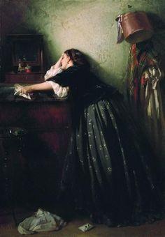 Константин Маковскийコンスタンチン・マコフスキー(1839ー1915)「Вдовушка(未亡人)」(1865)