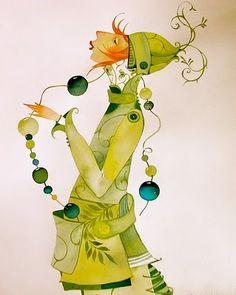 goldeneggstudio: watercolor illustrations