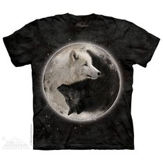 Ying Yang Wolves T-Shirt by the Mountain