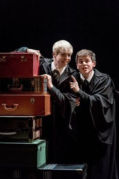 L-R Anthony Boyle (Scorpius Malfoy) and Sam Clemmett (Albus Potter)