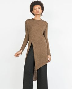 Image 2 of TUNIC WITH ASYMMETRIC OPENING from Zara